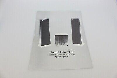 Vintage Petroff Las PL-2 Transducer Speaker Ad Sub Woofer Advertising Ad Audio