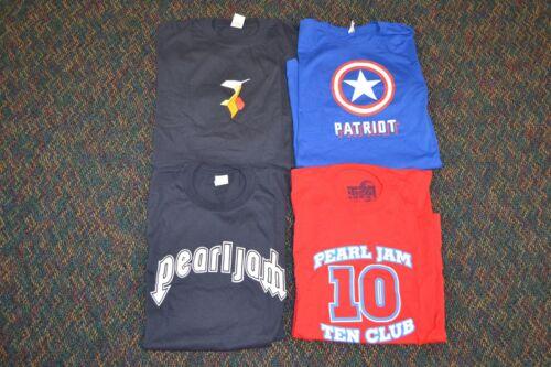 Lot 4x Pearl Jam 2004 Vote for Change Ten 10 Concert Patriot Shirt Red BlueXL