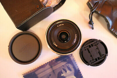 SONY 16mm f2.8 SEL16F28 Wide Angle Silver Prime Lens for E-MOUNT NEX with Extras