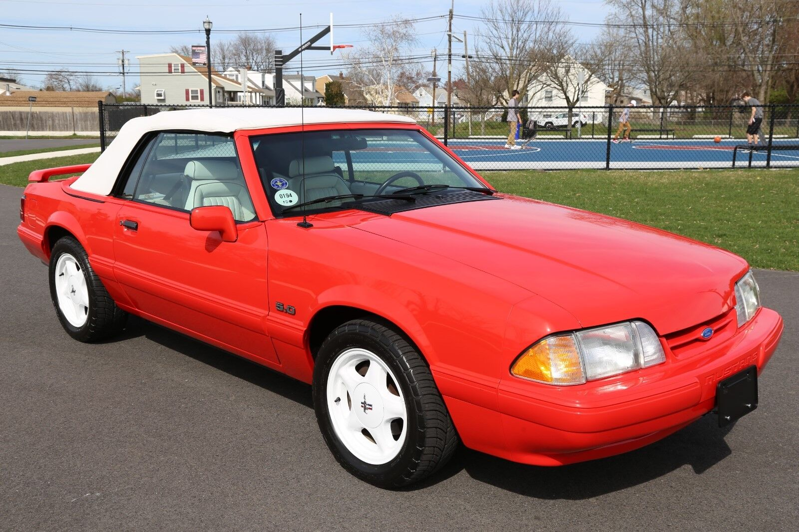 1992 FORD MUSTANG LX SUMMER EDITION CONVERTIBLE 16K ACTUAL MILES MINT NO RESERVE