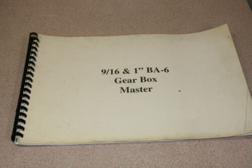 "National Acme Acme-Gridley 9/16 & 1"" BA-6 Gear Box Master Blue Prints Bound Set"