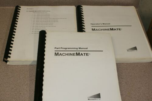MachineMate CNC Control Complete Manual Set Free Shipping!