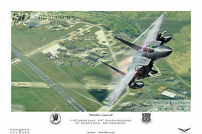 494th Fighter Squadron, F-15E Eagle, 48th FW RAF Lakenheath, Digital Artwork