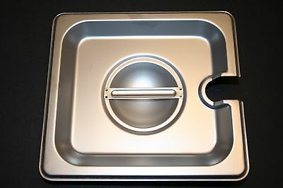 6 Pack 16 Size Pan Lid Stainless Steel Steam Hotel Prep Table Food Cover New