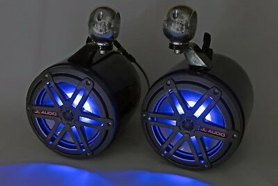 "JL Audio 7.7"" Wakeboard Tower Speakers  Black  NEW!!  RGB!!!! for sale  Wendell"