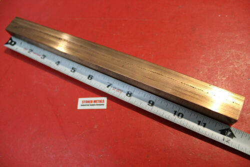 """1""""x 1"""" C110 COPPER SQUARE 12"""" long H04 Solid CU New Mill Bus Bar Stock"""