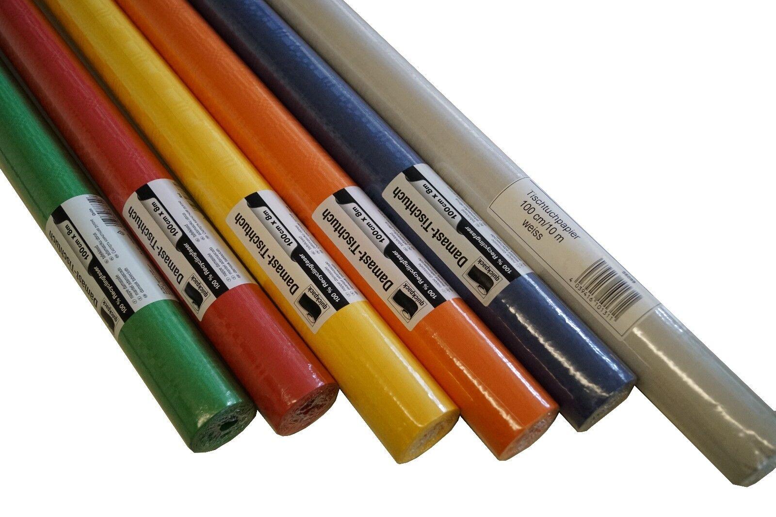Papier Tischrolle 100 cm Breit Farbe Auswahl passend  Bierzeltgarnituren 8-10 m