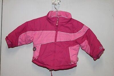 OBERMEYER Girls I-Grow Pink Ski Jacket Sz 3 Toddler 61522 Little Dipper Jacket