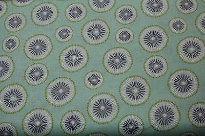 100% Cotton  fabric ~ Benartex ~ Mint green with purple white and green    ~ BTY](Purple And Mint Green)