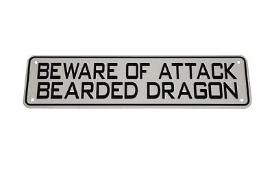 Beware of Attack Bearded Dragon NEW Reptile Lizard Sign Iguana Frog Snake Gift (Iguana Bearded Dragon)