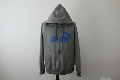 Puma Grey ZIp Up Hoodie size XL