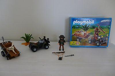Playmobil 4834 - Set quad safari et braconnier d'occasion  Dilbeek