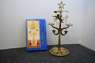 Vintage Swedish Angel Chimes Star Christmas Candle pyramid