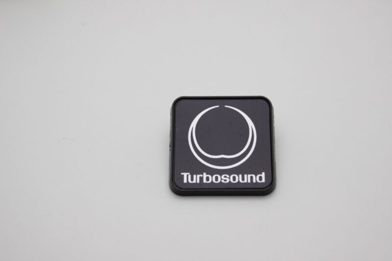 """For Replacement Turbosound Plastic Logo Badge 40mm (1.6"""") Square"""