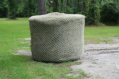 Horse Hay Round Bale Net Feeder Save $$ Eliminates Waste 6' x 5' Bales #84 Nylon