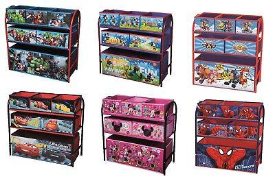 Kids Toy Storage Organiser Unit Metal Frame Multi Bin Playroom Bedroom Box