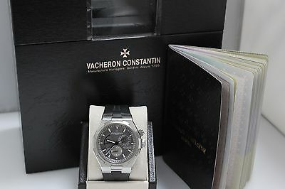 VACHERON CONSTANTIN 47450 OVERSEAS DUAL TIME AUTOMATIC STAINLESS BOX & PAPERS