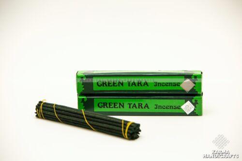 2 Tibetan Hand Rolled GREEN TARA INCENSE Stick Original Natural Meditation Scent