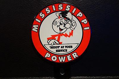 Mississippi Power  Reddy Kilowatt Plate Topper Electrician Gift