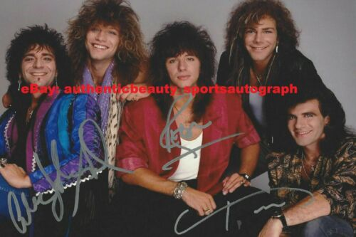 BON JOVI SLOW ROCK & ROLL METAL MUSIC RARE SIGNED 12x18 POSTER PHOTO REPRINT RP