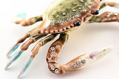 Crab Jewelry Trinket Box Decorative Collectible Enamel Sea Decorative Gift 02011