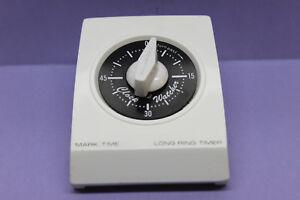 Vintage Rhodes Mark Time Clock Watcher 60 Minute Timer - Black & White - Retro