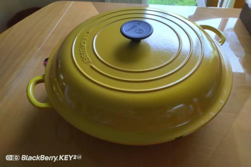 Le Creuset Braiser Yellow Cast Iron 32, 5 qt