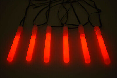 25ct DirectGlow 4 inch Red Glow Sticks with Lanyards 10-12+ Hour Glow