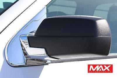MBCH106 - 2015-2018 Chevrolet Silverado 2500 Chrome Side Mirror Post Base Cover