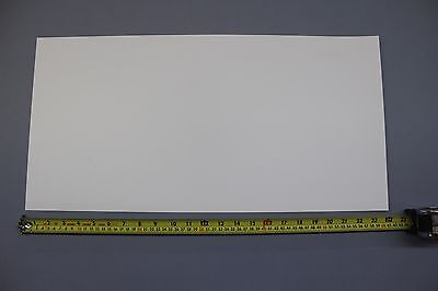 .030 Thick Snow White Polypropylene Plastic Sheet 12 X 24 Light Diffusing