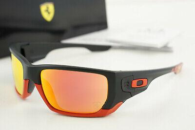 NIB FERRARI Oakley Style Switch OO9194-24 Matte Black Red/Ruby Iridium 60-18-124