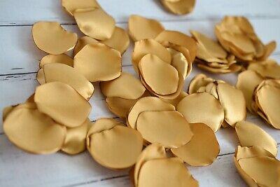 Antique gold satin rose petals, 100 count artificial flower petals