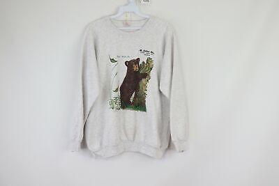 Vtg 80s Mens Small Mt Julian Hotel Canada Bear Print Crewneck Sweatshirt (Julian Bear)