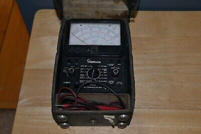 Vtg Simpson Model 260 Series 7 Volt Ohm Test Meter Multimeter Case Leads - Works