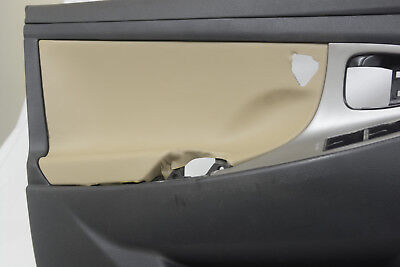 4 Door Panel Leather Synthetic Cover for Toyota Camry 07-11 Beige Beige Cam Cover