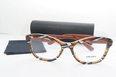 Prada Women's Orange Glasses with case VPR 29R VAN-1O1 54mm
