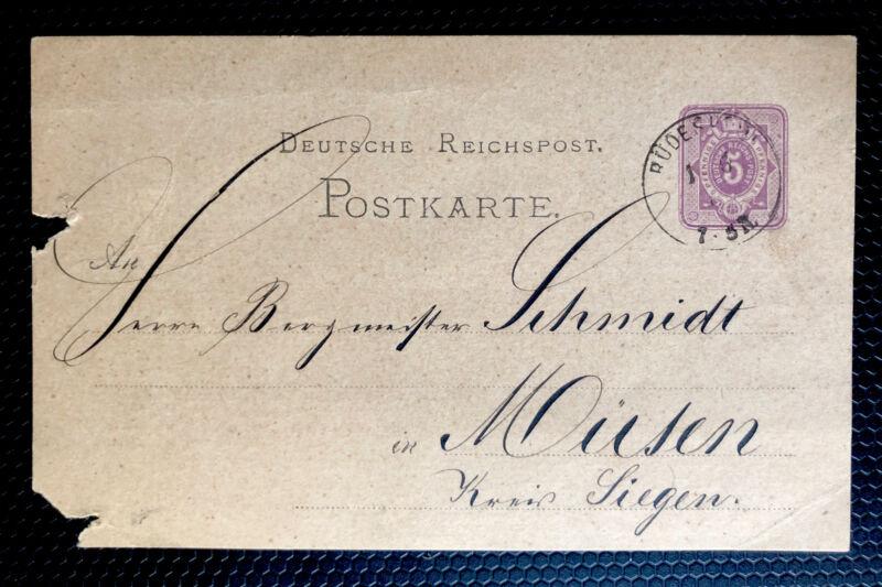 German Post Card 1875 Used