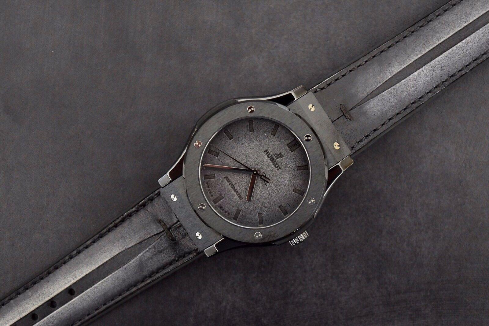 Hublot Classic Fusion Limited Edition Berluti All Black Ceramic Automatic Watch - watch picture 1