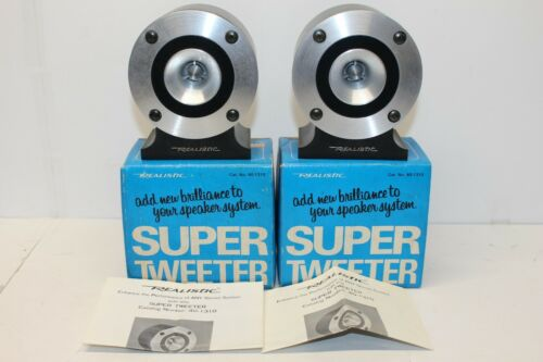 Realistic Shack Horn Super Tweeter Pair w/ Boxes, 40-1310
