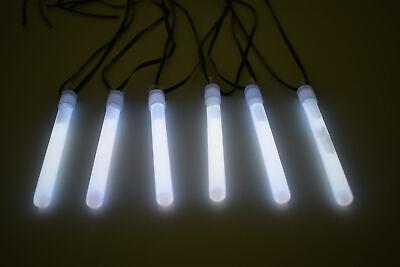 50ct DirectGlow 4 inch White Glow Sticks with Lanyards 10-12+ Hour Glow
