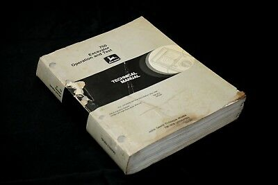 John Deere 750 Excavator Operations Test Service Repair Technical Manual TM-1809