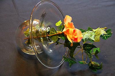 Besondere Designer Vase Glas Orchideen Einzelblume etc. Vase mit Seitenlage*****