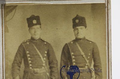 altes CDV Foto 2 Offiziere mit Säbel  Bulgarien 1.WK
