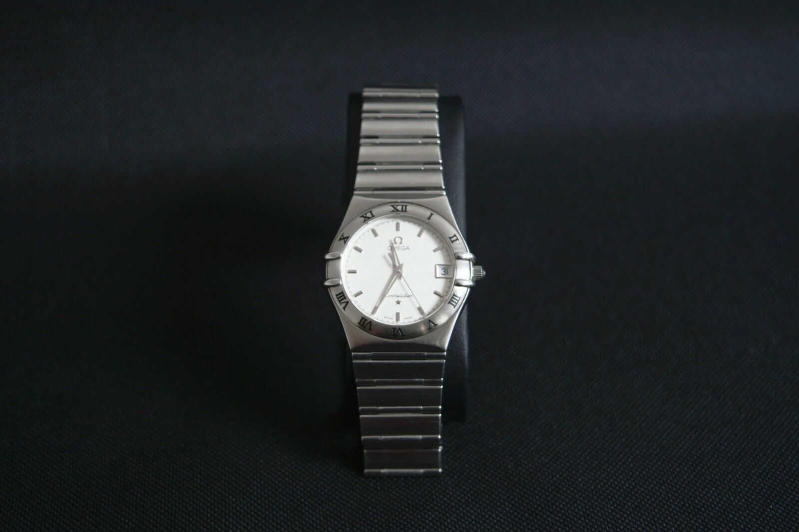 OMEGA Constellation Watch Men s Quartz White System Stainless Steel SS Used - $1,200.00