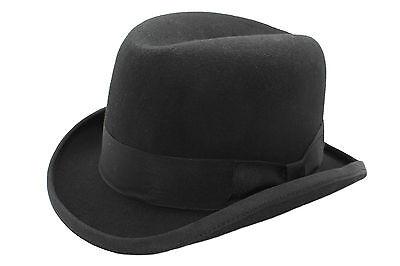 schwarz 100% Wolle Hohe Qualität Hart TOP Churchill - Qualität Top Filzhut