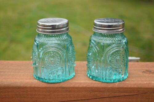 Adeline Salt & Pepper Shakers The Pioneer Woman Turquoise Glass