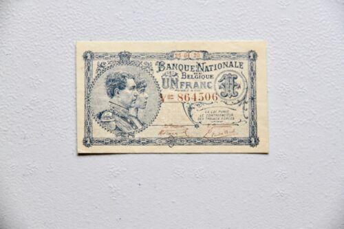 Belgium 1 Franc 1920 (VF) Condition Banknote P 92