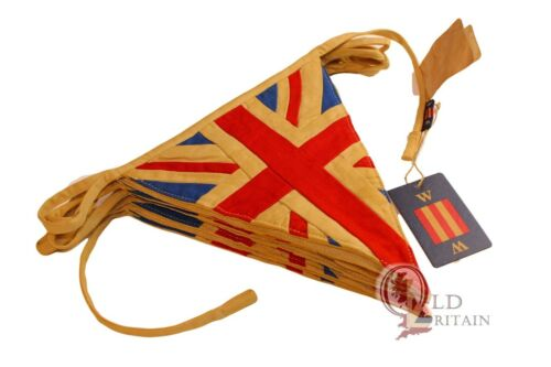 Nautical Union Jack Bunting | 4 Meters Cotton - 9 Quality Sewn Flag Banner