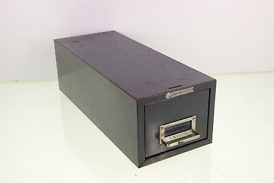 Steelmaster Art Steel Co. Card File Cabinet Metal Industrial