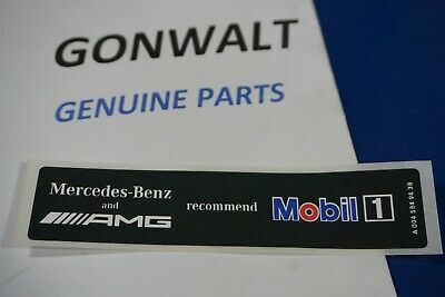 Emblem Label (0045849438 Mercedes Benz OE Factory AMG Mobil1 Oil Emblem Sticker Decal Label  )